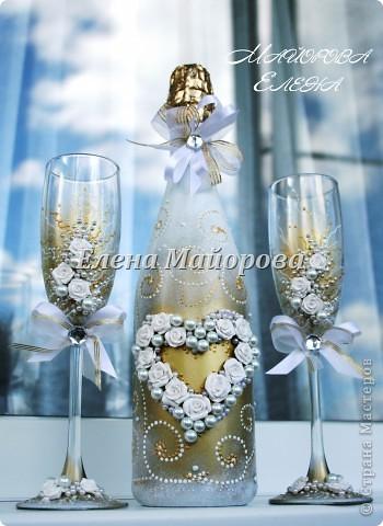 Первые пробы в оформлении свадебного набора. Огромное спасибо Олесе Ф. за её мастер-классы. фото 1