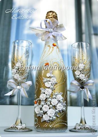Первые пробы в оформлении свадебного набора. Огромное спасибо Олесе Ф. за её мастер-классы. фото 4