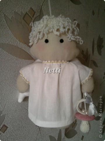 Этого Ангелочка я сшила в подарок для новорожденной девочки. Теперь эта девочка стала моей крестницей и ангелок висит у нее над кроваткой)))))))))))))) фото 2