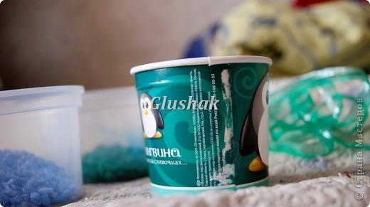 Эх, искала да нашла применение стаканчикам из под мороженного) Итак, нужно...  соответственно, стаканчик....... (Заранее его нужно обернуть цветной или белой бумагой. Можно просто закрасить рисунок) фото 1