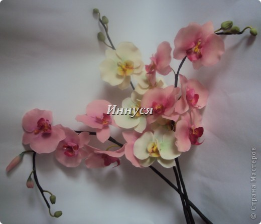 Вот такие орхидейки слепились у  меня на подарок хорошим людям. фото 8