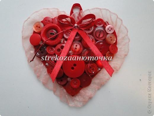 Пуговичное сердечко фото 1