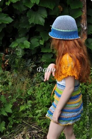 Сто лет не вязала ничего, кроме шапочек и игрушек.. :) Вдохновилась новым конкурсом от Голубки, в результате- вот :) фото 14