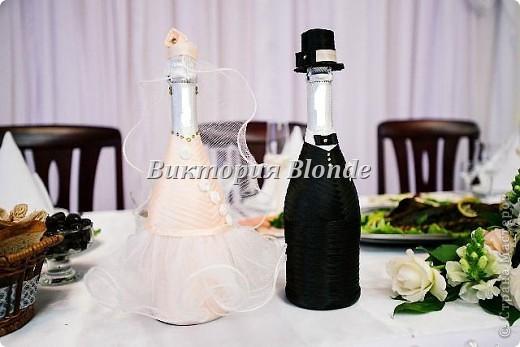 Делала впервые и корзинку и орешки и бокалы и бутылки свадебные. впервые попробовала работать с хрустальной пастой. смотрите и наслаждайтесь)) фото 11