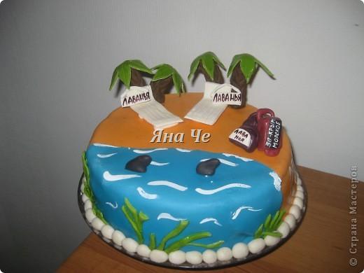 Такой тортик мы взяли на море... фото 1