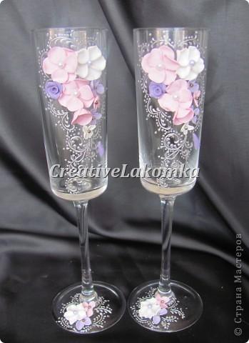 Свадебные бокалы № 116 фото 5