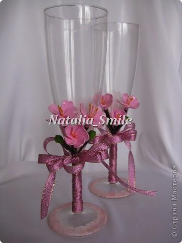 """Вашему вниманию Бокалы """"Сакура"""". Такие бокалы смогут украсить не только свадебное торжество, но и любое праздничное мероприятие ;) фото 2"""