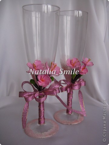 """Вашему вниманию Бокалы """"Сакура"""". Такие бокалы смогут украсить не только свадебное торжество, но и любое праздничное мероприятие ;) фото 1"""