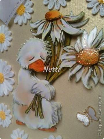 """Мне очень понравился этот гусик)))))))))))) И вот, """"родилась"""" такая открыточка. фото 2"""