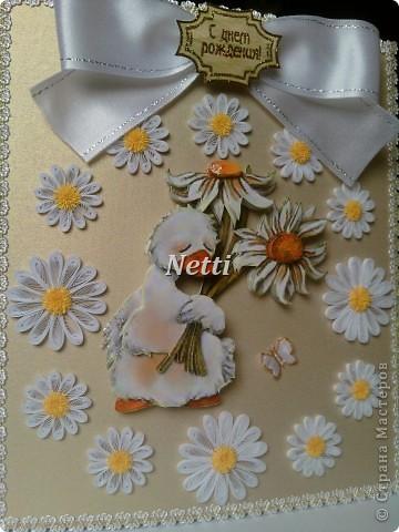 """Мне очень понравился этот гусик)))))))))))) И вот, """"родилась"""" такая открыточка. фото 3"""