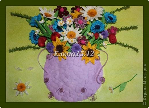 Всем ,всем здравствуйте!Отдыхая на природе и собирая полевые цветы, возникло желание сделать серию полевых цветов.              Букет №1 собрался у меня таким образом. фото 9