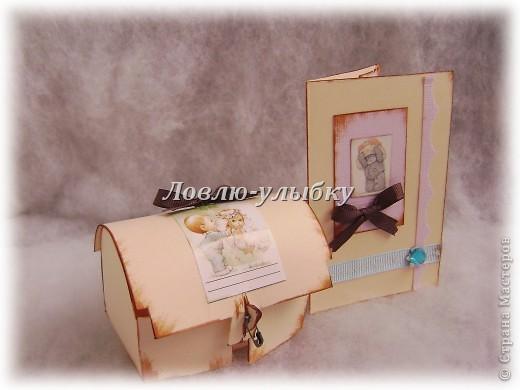Сундучок с женихом и невестой фото 3