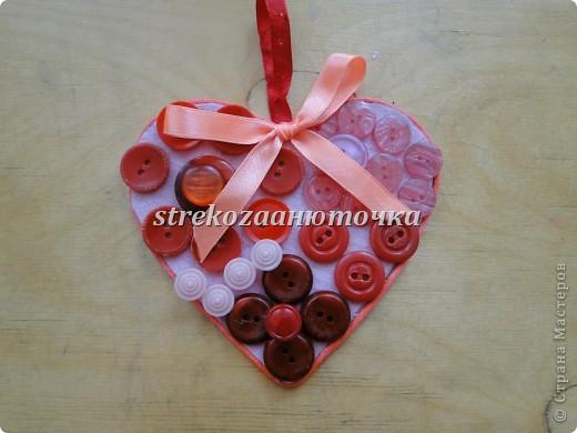 Пуговичное сердечко фото 16