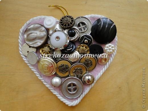 Пуговичное сердечко фото 25