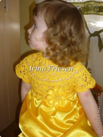 Здравствуйте дорогие мастерицы! Хочу показать вам какое платье связалось и сшилось для моей доченьки. Шила я правда в первый раз. фото 5