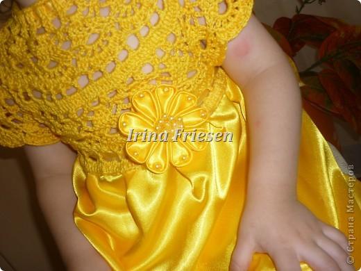 Здравствуйте дорогие мастерицы! Хочу показать вам какое платье связалось и сшилось для моей доченьки. Шила я правда в первый раз. фото 2
