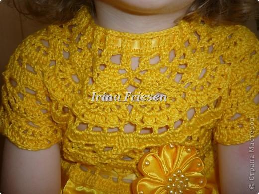 Здравствуйте дорогие мастерицы! Хочу показать вам какое платье связалось и сшилось для моей доченьки. Шила я правда в первый раз. фото 3