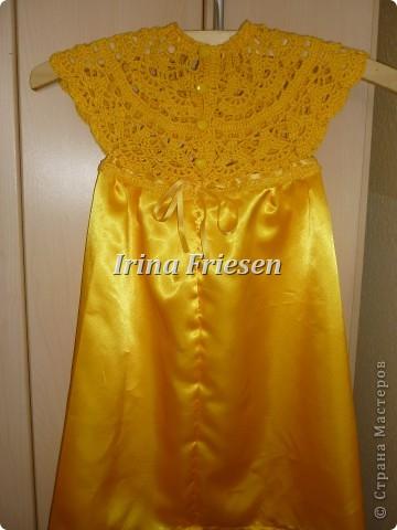 Здравствуйте дорогие мастерицы! Хочу показать вам какое платье связалось и сшилось для моей доченьки. Шила я правда в первый раз. фото 4