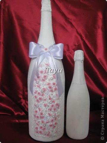 Вот такой набор мне заказали молодожёны из Киева!Бутылочку мне прислали для оформления, она огромная (3л). фото 7