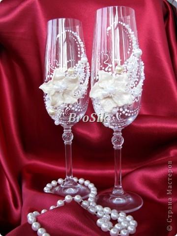 Бокалы на свадьбу(Или работы самоучкина) фото 6