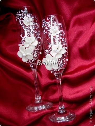Бокалы на свадьбу(Или работы самоучкина) фото 11