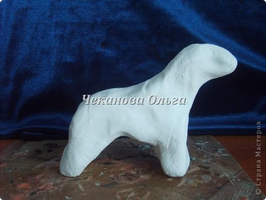 Собака породы керри блю терьер. С орнаментом( по желанию) фото 2