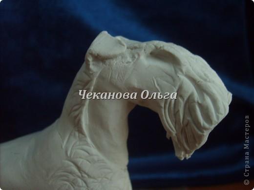 Собака породы керри блю терьер. С орнаментом( по желанию) фото 5