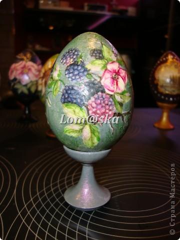 пасхальные яйца, дерево, декупаж фото 3