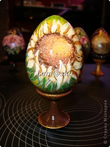 пасхальные яйца, дерево, декупаж фото 4