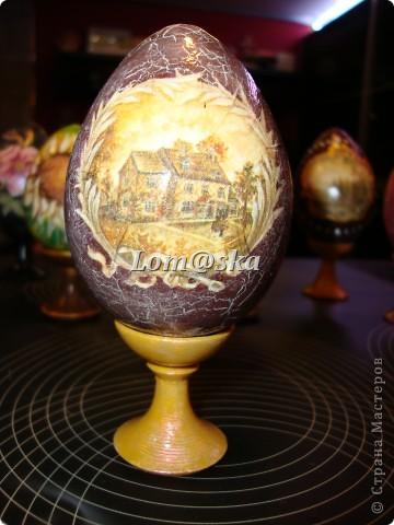 пасхальные яйца, дерево, декупаж фото 5