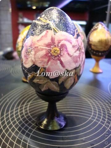 пасхальные яйца, дерево, декупаж фото 6