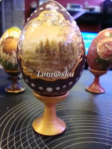пасхальные яйца, дерево, декупаж фото 8