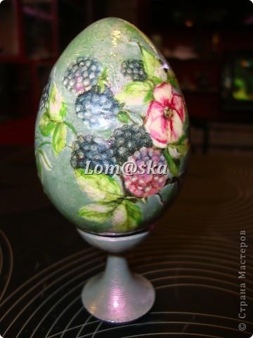 пасхальные яйца, дерево, декупаж фото 10