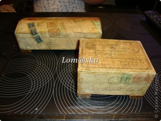 деревянная шкатулка, декупаж, позолота, состаривала битумом. фото 4