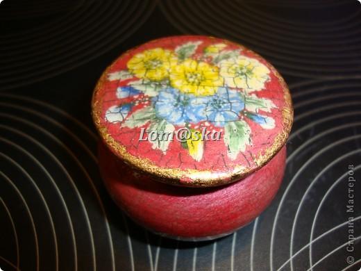 маленькая деревянная шкатулочка, роспись акрилом, позолота фото 1