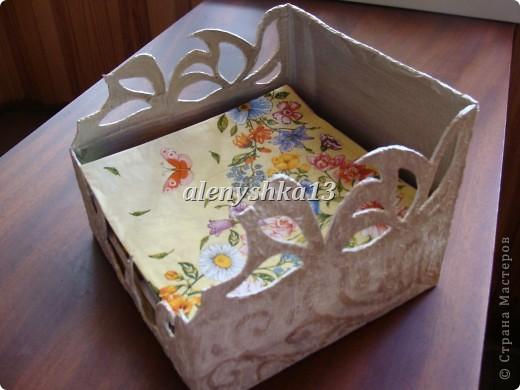 Коробочка для салфеток фото 1