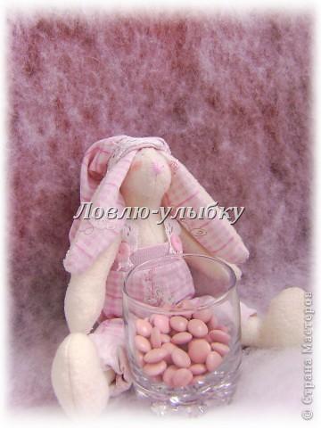 Эту заю, я сшила на свадьбу!)))Да да! это будет распорядитель на свадебный сладкий бар. Вся такая розовая, потому как свадьба вся в розовых красках...и на сладком баре будут только розовые сладости фото 1