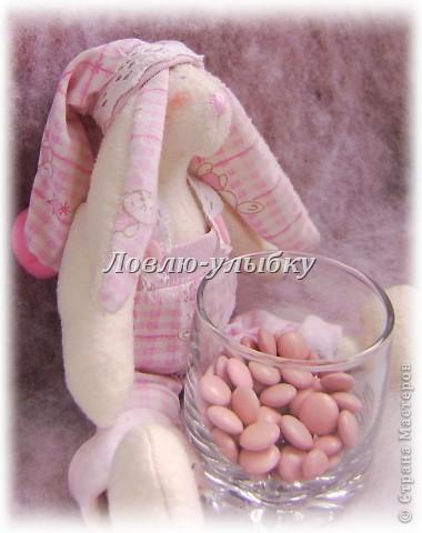 Эту заю, я сшила на свадьбу!)))Да да! это будет распорядитель на свадебный сладкий бар. Вся такая розовая, потому как свадьба вся в розовых красках...и на сладком баре будут только розовые сладости фото 2