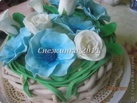 Корзина с цветами фото 7