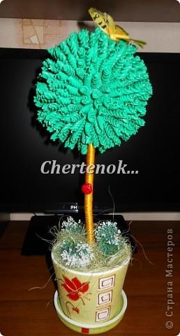 На такой топиарчик меня вдохновила Зимняя Вишенка!!! делала по ее МК вот ссылочка http://stranamasterov.ru/node/388119 Вот что у меня получилось..)) фото 1