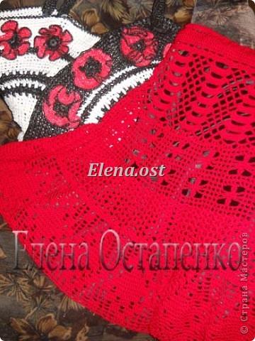 вязание крючком ажурная юбочка на лето азбука вязания