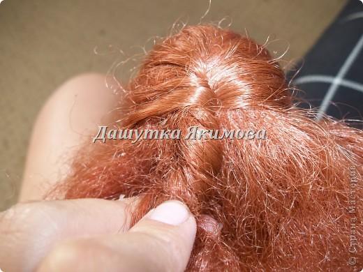 С начало причешите кукле волосы фото 5