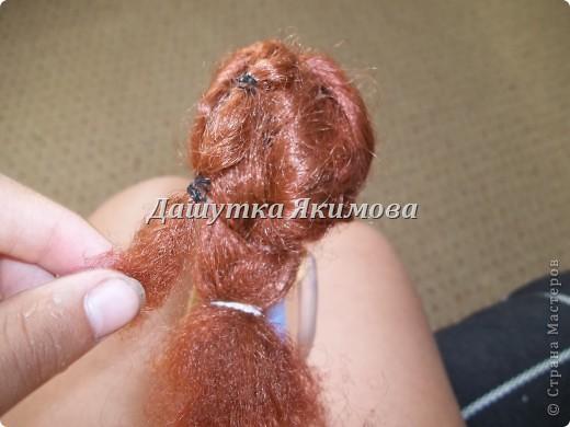 С начало причешите кукле волосы фото 10