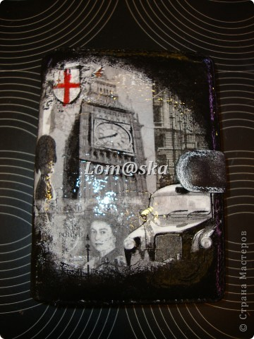Вид спереди декупаж. прорисовка акрилом. глянцевый. фото 1