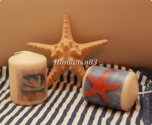 Свечи на морскую тематику фото 1