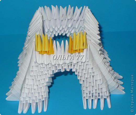 Для данного изделия понадобится: всего 1048  модулей.  Размер используемого модуля  1\32 часть листа, формата А4 Использовалась бумага белого цвета, клей ПВА, балончик с аэрозольной краской серебристого цвета.  фото 24