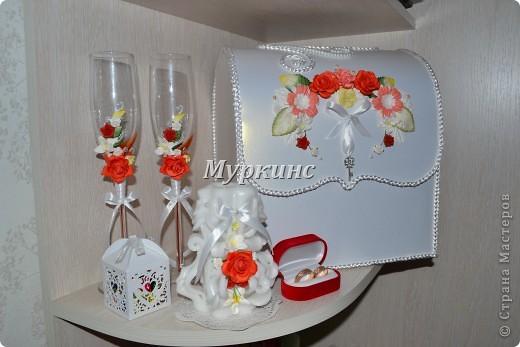 Вот такая красота получилась) в цвет моей красно-коралловой свадьбы! фото 1