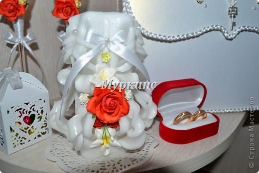 Вот такая красота получилась) в цвет моей красно-коралловой свадьбы! фото 4
