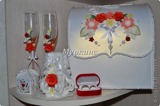 Вот такая красота получилась) в цвет моей красно-коралловой свадьбы! фото 7