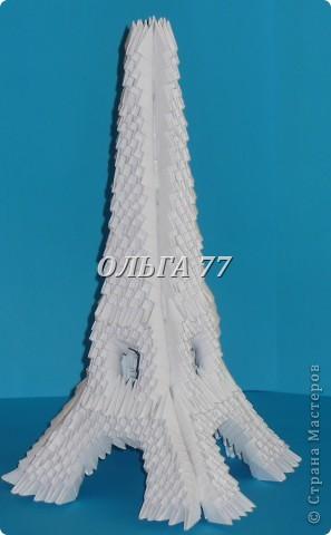 Для данного изделия понадобится: всего 1048  модулей.  Размер используемого модуля  1\32 часть листа, формата А4 Использовалась бумага белого цвета, клей ПВА, балончик с аэрозольной краской серебристого цвета.  фото 54